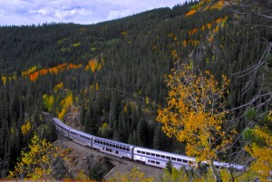 California Zephyr with lounge and diner cars