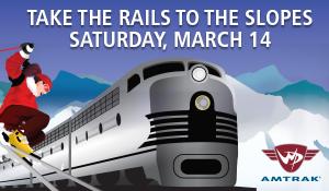 Amtrak ski train poster